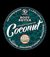 Твердое масло для загара в солярии Solbianca Coconut с маслом кокоса и бронзаторами 150ml