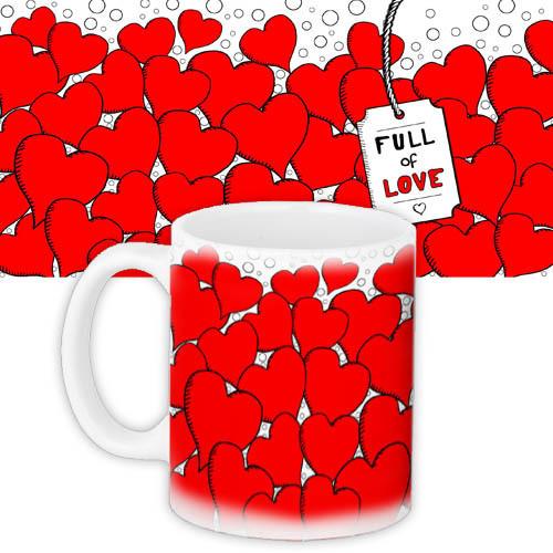Кружка с принтом Full of Love 330 мл (KR_L125)