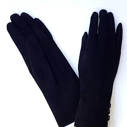 Перчатки имитация замш, черный р.8,5, фото 2
