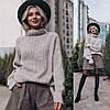 """Вязаный свитер """"Городок"""",30% шерсть,30% вискоза, 25% акрил,15% полиамид. Размер:42,44. Цвет: белый. (5254), фото 3"""