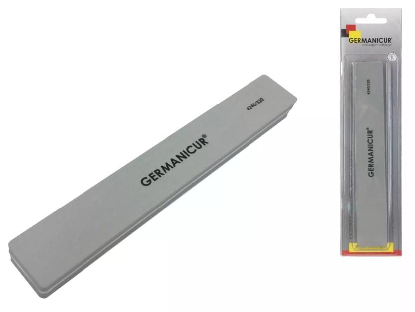 Germanicur Пилка-шлифовщик GM-910 (240/320) прямая широкая для ногтей