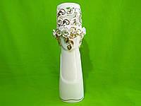 Керамическая настольная ваза резка «Роксен» (лепка)