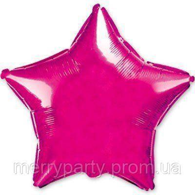 """9"""" (23 см) Звезда металлик малиновый Flexmetal Испания шар фольгированный"""