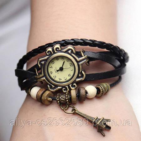 Винтажные часы - браслет в черном цвете!