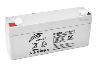 Аккумуляторная батарея AGM RITAR RT632, Gray Case, 6V 3.2Ah ( 134х35х60 (66) ) Q20