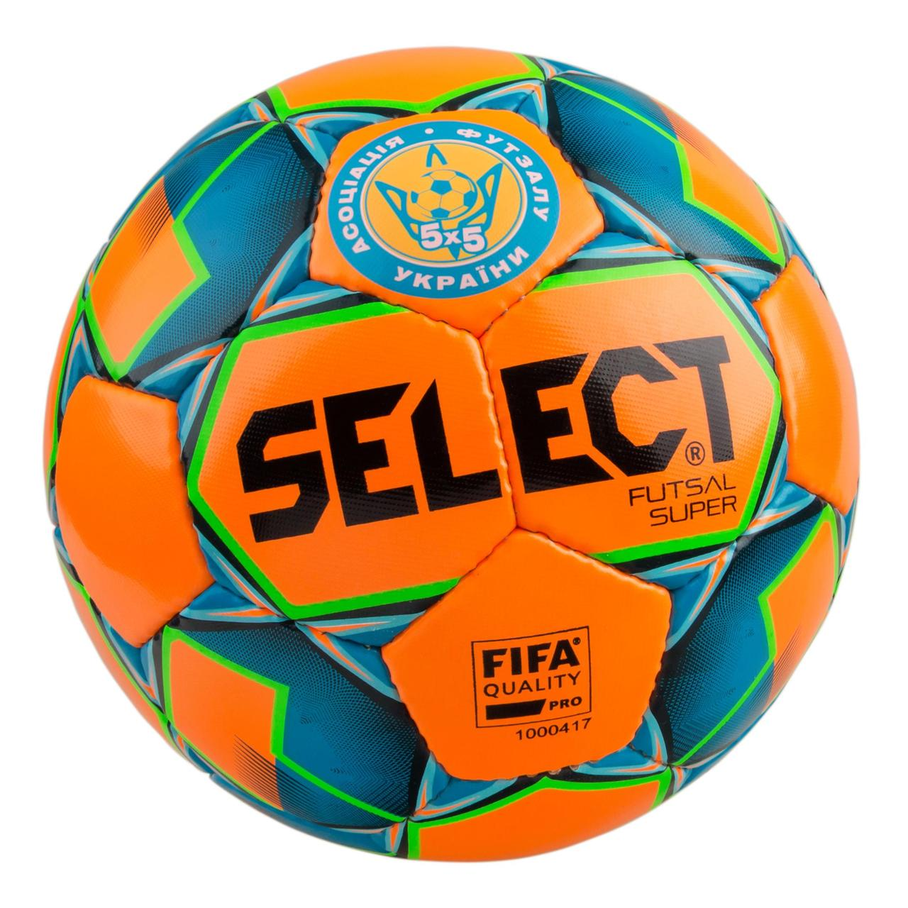 Мяч для футзала  SELECT Futsal Super №4 (orange-blue)