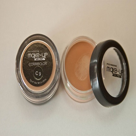 MakeUP Secret Тональний крем плотный (корректор) С9 персиковый (Corrector C9), банка 5г