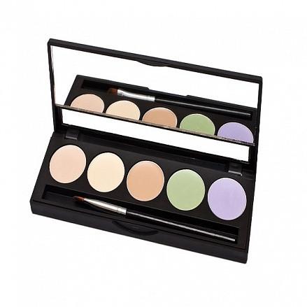 MakeUP Secret Палитра корректоров цветная 5 цветов (CP1) / Concealer Palette, 5 x1,8г
