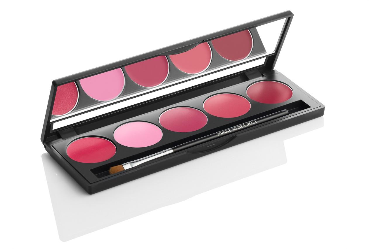MakeUP Secret Палитра помад LP3 (5 Lip Palette LP3) 5 оттенков розового