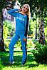 Модный спортивный костюм с кружевом,голубой