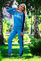Модный спортивный костюм с кружевом,голубой, фото 1