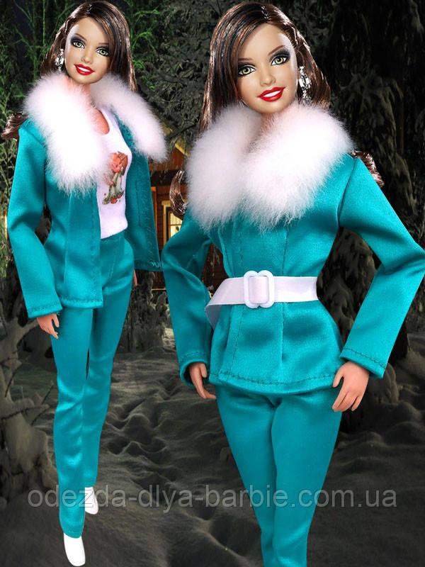 Одежда для кукол Барби - пиджак, брюки и ремешок