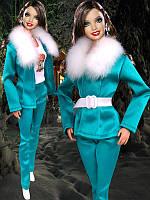 Одежда для кукол Барби - пиджак, брюки и ремешок, фото 1