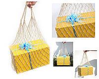 Авоська - Белое Золото - Подарочная сумка - Сумка для вечеринок , фото 1