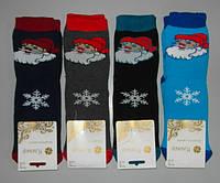 Носки женские махра новогодние 1 пара 36-40 раз Дед мороз зимние, фото 1
