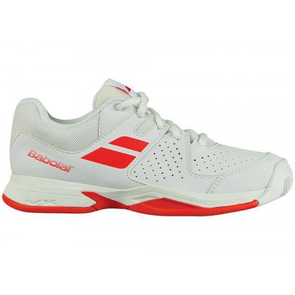 7e1d8030 Кроссовки теннисные детские Babolat PULSION ALL COURT GIRL 33 WHITE/BRIGHT  RED 32S18482/1017
