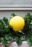 Шар 8 см Бархат Желтый, шары на елку