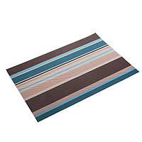 Подставки под тарелки на кухонный стол, сервировочные коврики, 6 шт коричнево-синие