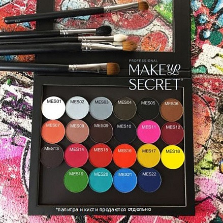 MakeUP Secret Тени-гибрид минерал. MES 06 (Mineral Eyeshadow MES 06) светло-коричневый