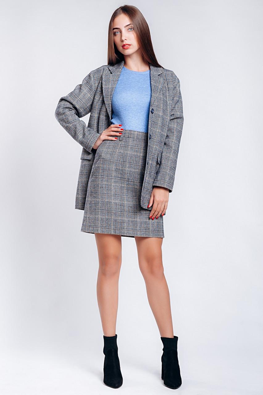 Женский пиджак в клеточку
