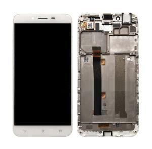 """Дисплей для Asus ZenFone 3 Max 5.5"""" (ZC553KL) с тачскрином и рамкой белый, Glacier Silver Оригинал"""