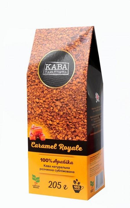 """Кофе растворимый сублимированный """"Кава Характерна Caramel Royale"""", 205 г"""
