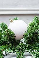 Шар 8 см Бархат Белый, шары на елку