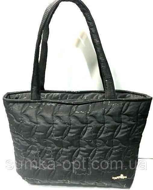 Стеганные женские сумки (черный узор)31*49см
