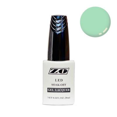 Гель-лак ZO, бледно-зеленый пастель, 20 мл
