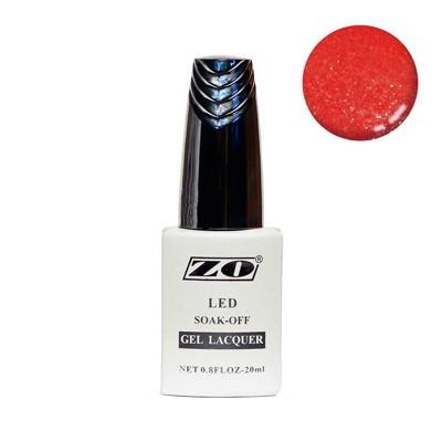 Гель-лак ZO, красный шиммер с блестками, 20 мл