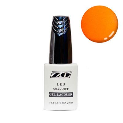 Гель-лак ZO, оранжевый неяркий шиммер, 20 мл NEW!!!