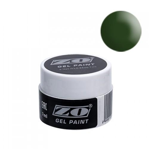 Гель-краска ZO, зеленая 7 мл NEW