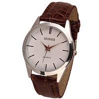 Кварцевые женские часы HONHX в коричневом цвете!