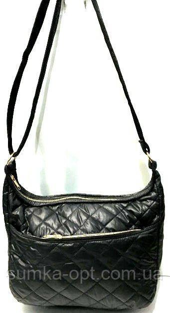 Стеганные женские сумки (черный стеганный)26*37см