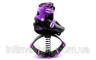 Джамперы - фитнес ботинки на пружинах, цвет фиолетовый, размер 35-38