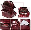 Рюкзак женский кожаный Laura Cиний, фото 5