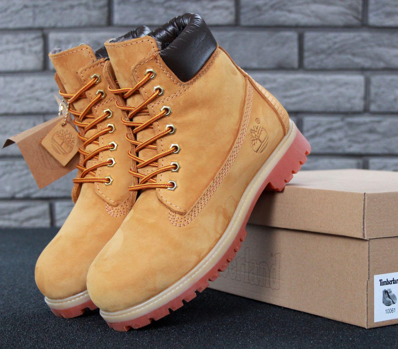 Ботинки Timberland Classic Yellow натуральный мех