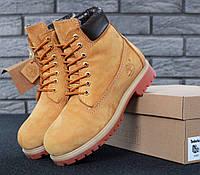 Ботинки Timberland Classic Yellow натуральный мех, фото 1