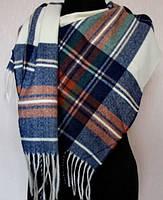 Тёплый кашемировый шарф в клетку