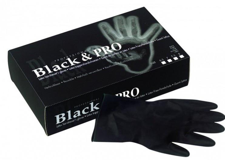 Перчатки латексные черные (размер M) (20 шт) Sibel