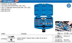 Набор метчиков и плашек метрических 16 предметов М3-М12