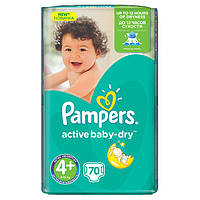 Подгузник Pampers Active Baby Maxi Plus 4+(9-16 кг) 62 шт