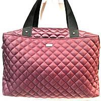 Стеганные женские сумки (бордо стеганный)28*39см, фото 1