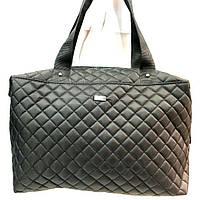 Стеганные женские сумки (черный стеганный)28*39см, фото 1