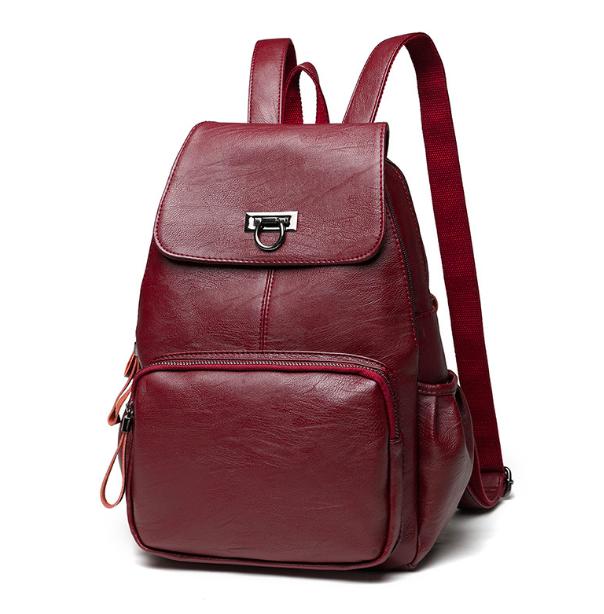 87df20172b47 Купить Рюкзак женский кожаный Laura Красный недорого в интернет ...
