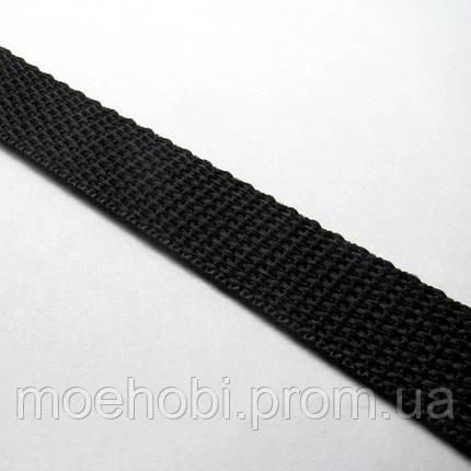 Ременная лента черная (20мм)  6345, фото 2