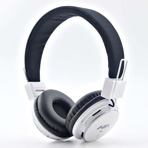 Bluetooth стерео наушники NIA Q8-851S оригинал с МР3 плеером и FM радио