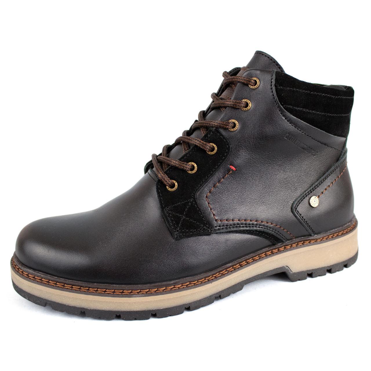 Ботинки зимние кожаные Multi-Shoes Born, Чёрный, размеры в наличии ► [ 42, 43, 44 ]