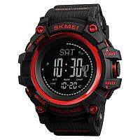 Skmei 1358  processor красные мужские часы с шагомером и барометром