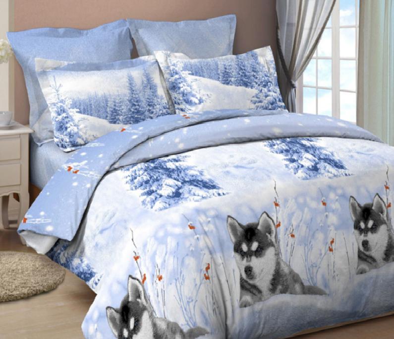 Комплект постельного белья Царский Дом ХАСКИ 2 (Бязь, ГОСТ) двухспальный